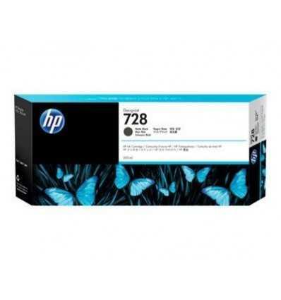 Cartouche d'encre DesignJet HP 728 - Noir mat - 300 ml