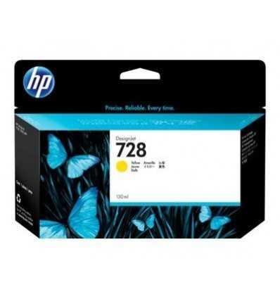 Cartouche d'encre DesignJet HP 728 - Jaune - 130 ml