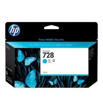 Cartouche d'encre DesignJet HP 728 - Cyan - 130 ml