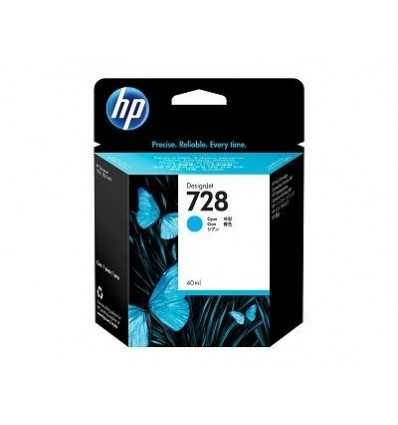 Cartouche d'encre DesignJet HP 728 - Cyan - 40 ml