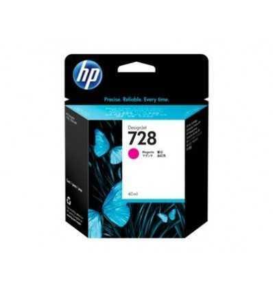 Cartouche d'encre DesignJet HP 728 - Magenta - 40 ml