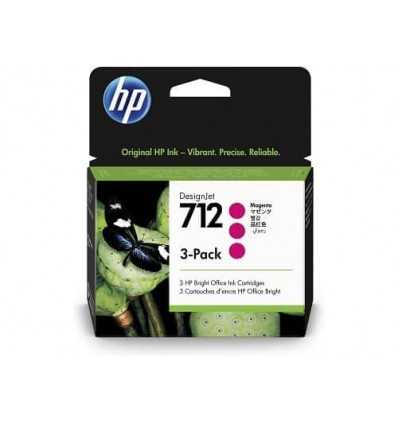 Pack de 3 cartouches d'encre DesignJet HP 712 - Magenta - 29 ml