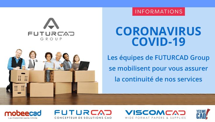 Informations Coronavirus Covid-19 FUTURCAD Group